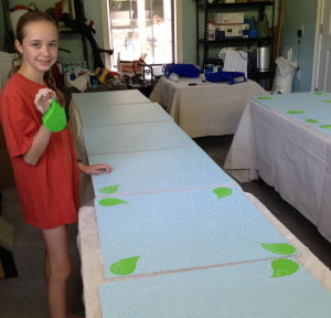 Stamping the Leaf Patterns