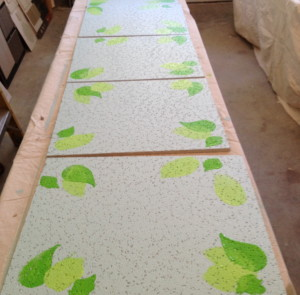 Tiles ready for Floral Artists